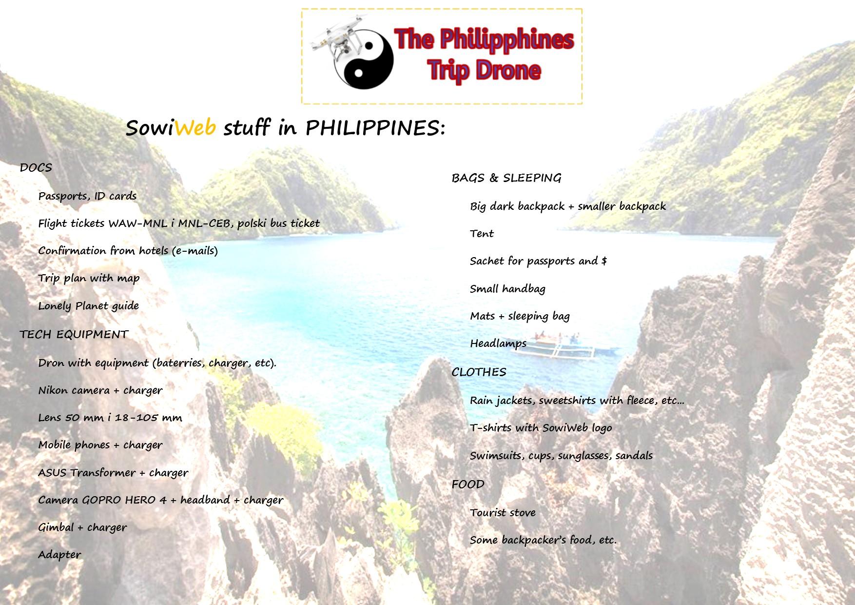 Filmowanie dronem na Filipinach