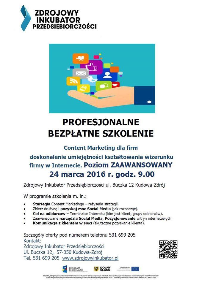 Plakat Szkolenie SowiWeb