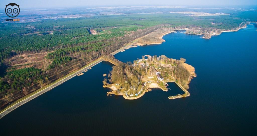 Jezioro Turawskie,Opole. Dron SowiWeb