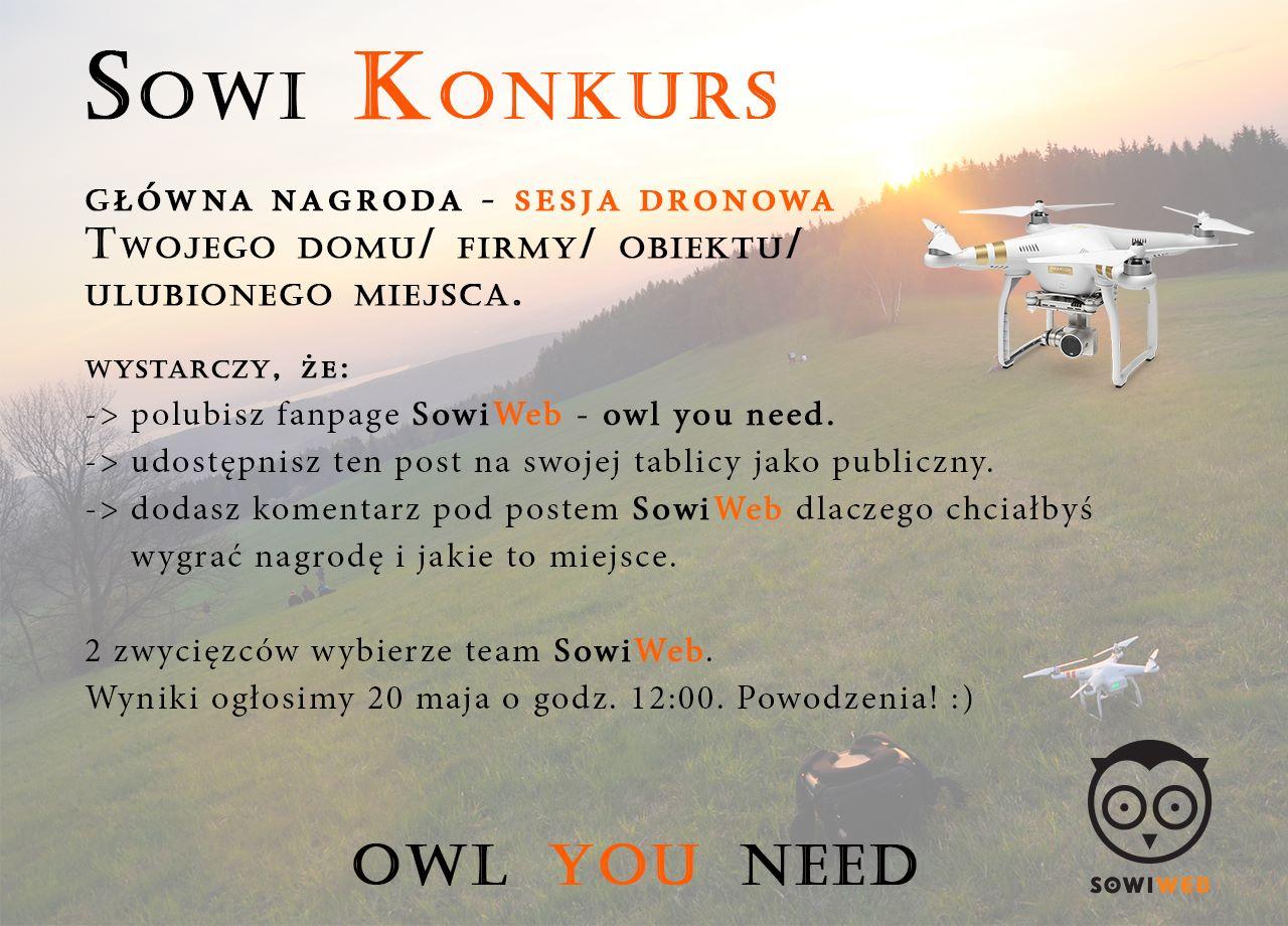 Sesja dronowa_Konkurs w SowiWeb